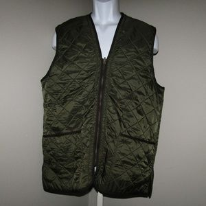 Barbour Green Quilted Winter Polar Vest Large